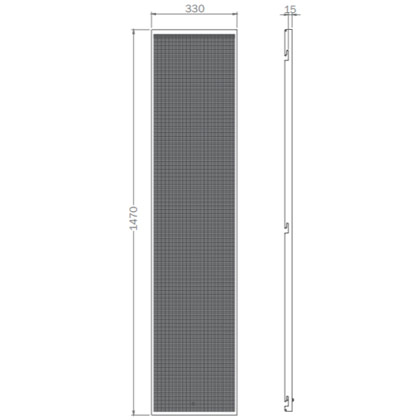 Lochblechelement mit Quadratlochung 5mm x 5mm