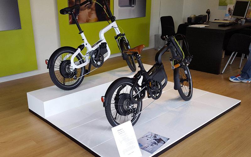 Fahrradpräsentation mit EasyCubes