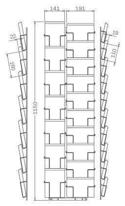 Sonderformat - 190mm x 140mm - 7x Hochformat, 10x Querformat – PKT17