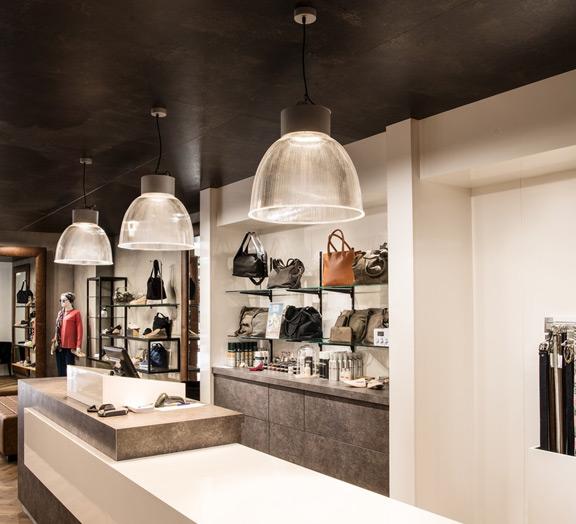 Moderne Shop Beleuchtung mit Pendelbeleuchtung