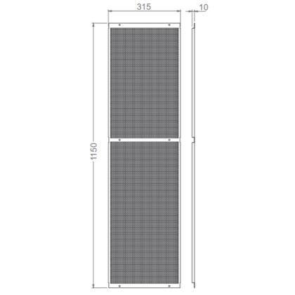 Lochblechelement - Quadratlochung 5mm x 5mm - Lochblechelement