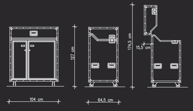pro art kitcase kofferk che mit k hlschrank. Black Bedroom Furniture Sets. Home Design Ideas